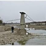Incision of river channel, R. Milcov (R.Sacrieru)