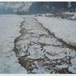 Ice jam on the Bistrita River (N.Radoane)