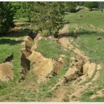 Gullies on slope roads_Pangarati(N.Radoane)