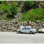 Taluz prin rostogolire roci, Mtii Buzau, (MMicu)
